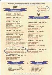 Menu Poco Loco - Les burgers