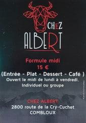 Menu Chez Albert - Prestations