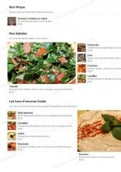 Menu Beytouti - Wraps, salades et hors d'oeuvre froid