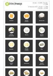 Menu Urbun - Les fromages