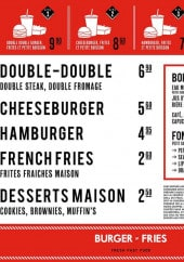 Menu Burger and Fries - Les formules