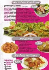 Menu Daily Pizza - Les salades, entrées et pates