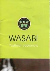 Menu Sushi Wasabi -