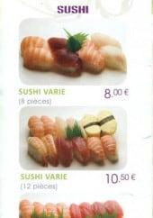 Menu Sushi Wasabi - Sushi