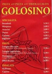 Menu Golosino - Carte Golosino