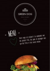 Menu Green Dog - Carte et menu Green Dog Paris 5