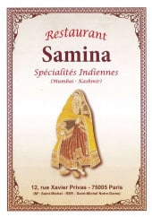 Menu Samina - Carte et menu Samina Paris 5