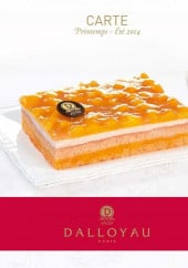 Menu Dalloyau - Carte et menu Dalloyau Paris 6