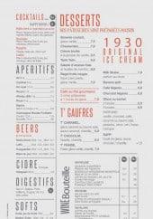 Menu Moutarde Street - Les desserts, cocktails...