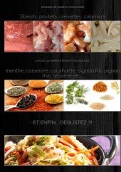 Menu Wok Saint Germain - Les viandes, fruits de mer, épices...