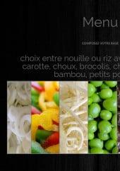 Menu Wok Saint Germain - Les nouilles et riz