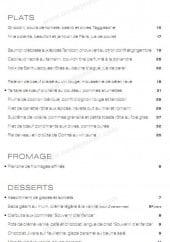 Menu Le Mini Palais - Les plats et desserts