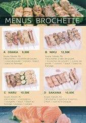 Menu Le Ruban Rouge - menus brochette et menu sushi et sashimi