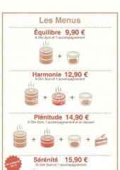 Menu Nao - Les menus
