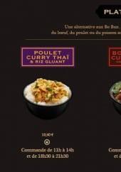 Menu Saï - Les plats chauds
