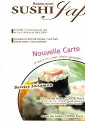 Carte et menu Sushi Japo Paris 8