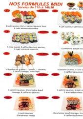 Menu Sushi Japo - Les formules midi
