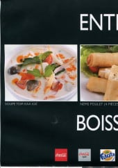 Menu Iyo Asian Food - entrer et boissons