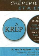 Menu Krep - Carte et menu Krep Paris 9