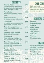 Menu Pizza marzano - Les desserts