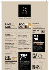 Menu Farago - Les menus à la carte