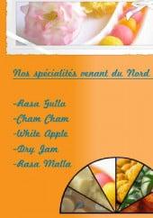 Menu Ganesha Sweets - specialites du nord