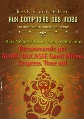 Menu Aux Comptoirs des Indes - carte et menu Aux Comptoirs des Indes Paris 11
