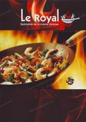 Menu Le Royal Mandarin Express - Carte et menu Le Royal Mandarin Express Paris 11
