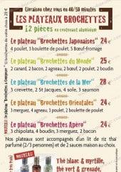 Menu Pic et Chic - Les plateaux brochettes