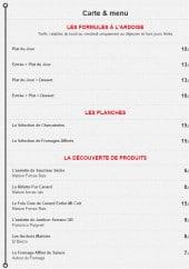 Menu Pozada - Les formules, planches...
