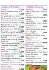 Menu Sanioura - Les entrées et les desserts