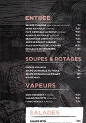 Menu Setaï - Les entrées, soupes,....