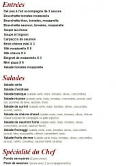 Menu Squadra - Les entrées, salades ...