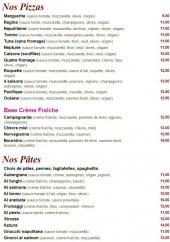 Menu Squadra - Les pizzas, pâtes