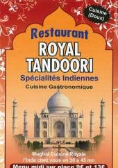 Menu Le Royal Tandoori - Carte et menu Le Royal Tandoori Paris 12