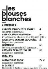 Menu Les blouses blanches - Le filet de bœuf, poisson,...