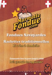 Carte et menu Marmotte Fondue Paris 12