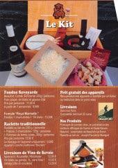 Menu Marmotte Fondue - Les informations sur le menu