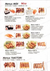 Menu Sushi Like - Les menus midi et menus yakitoris