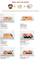 Menu Sushiland - Les menus sushi maki sashimi