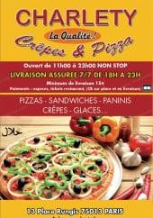 Menu Charlety Pizza - Carte et menu Charlety Pizza paris