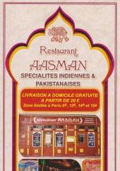 Menu Aasman - Carte et menu Aasman Paris 14