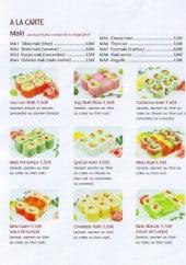 Menu Asahi Sushi - Les makis