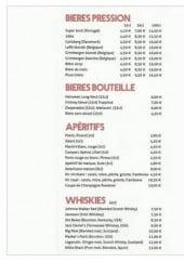 Menu Café D'Orléans - Boissons
