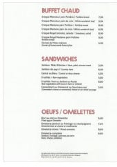Menu Café D'Orléans - Buffet, sandwichs, omelettes,...