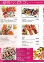 Menu Ginza - Les menus poissons cru