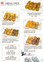 Menu Sushi Itchi - Les menus midi
