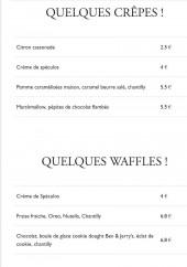 Menu French Waffle - Un extrait de la carte (suite)