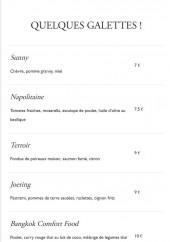 Menu French Waffle - Un extrait de la carte