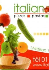 Carte et menu de Italian Meal à Paris 15